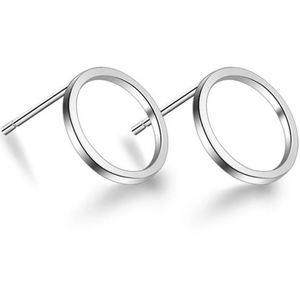 🆕Unisex S925 Minimalist Open Circle Stud Earrings